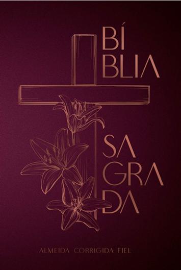 Bíblia | ACF - Leitura Perfeita - Cruz floral