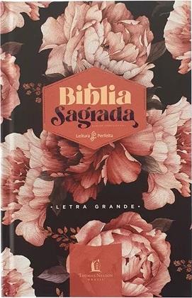 Bíblia Leitura Perfeita | ACF | Capa Dura Peônias Rosadas
