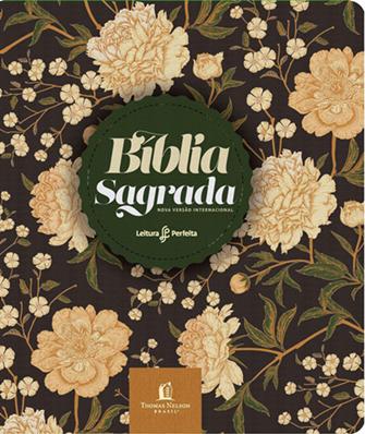 Bíblia Leitura Perfeita com Anotação   NVI   Capa Flores