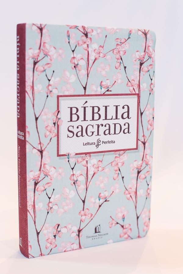 Bíblia Leitura Perfeita | NVI | Capa Tecido Cerejeira