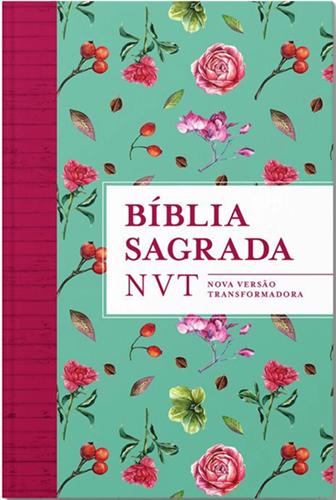 Biblia NVT Flores tiffany - Letra Grande