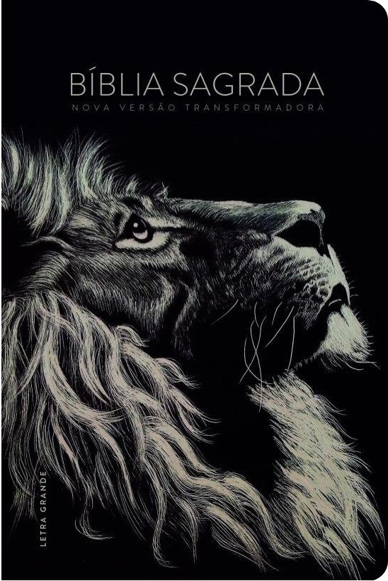 Biblia NVT Lion preta - Letra Grande
