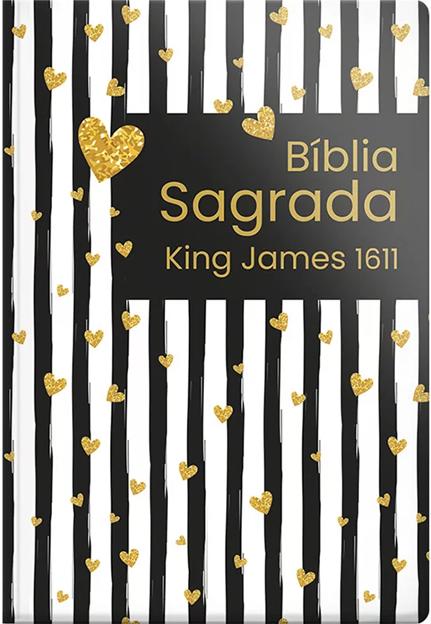 Bíblia Sagrada | BKJ |  King James 1611 Listrada Coração