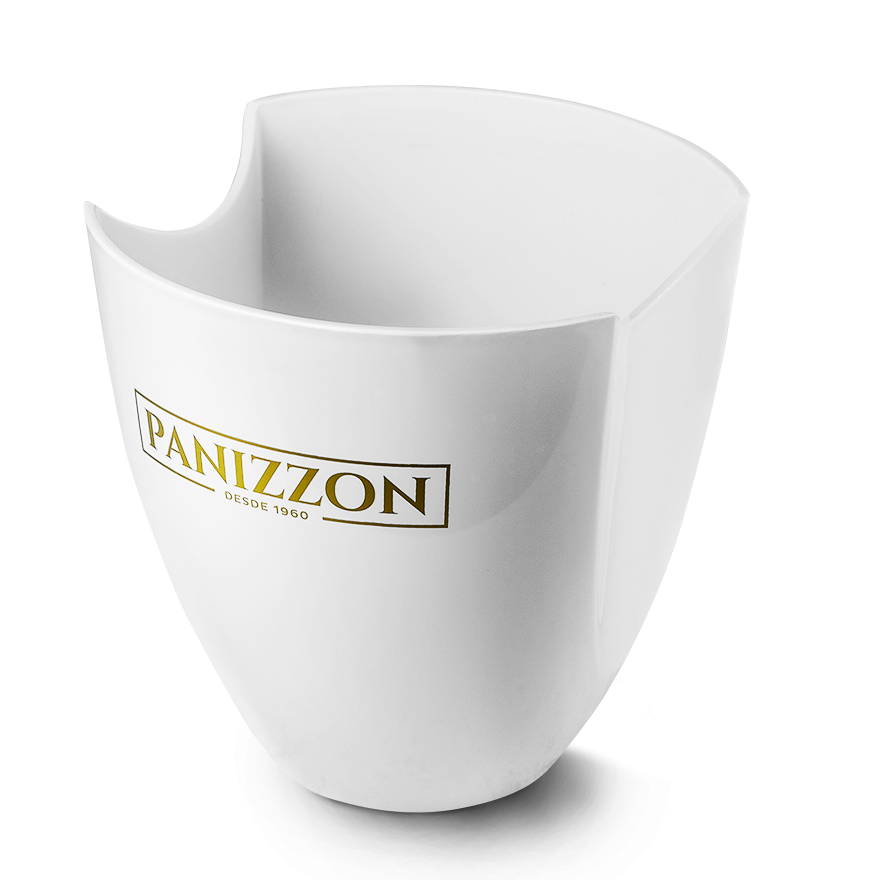 Balde de Gelo Branco Panizzon para uma Garrafa