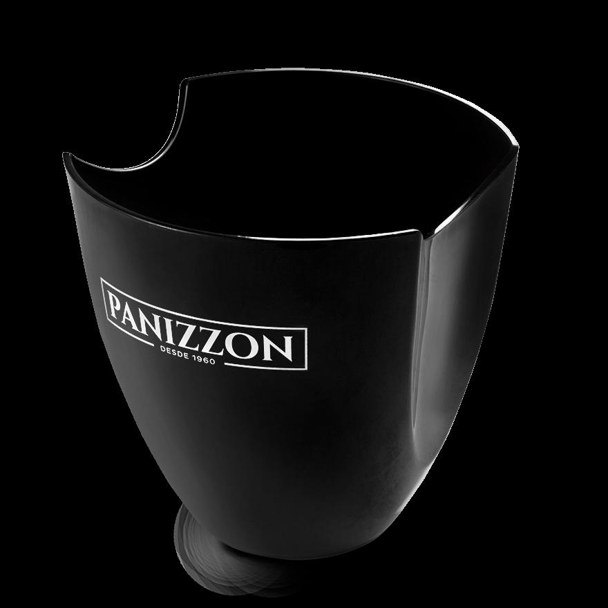 Balde de Gelo Preto Panizzon para uma Garrafa