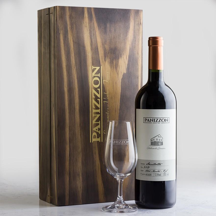Caixa de Madeira + Duas Taças ISO + Panizzon Ancellotta