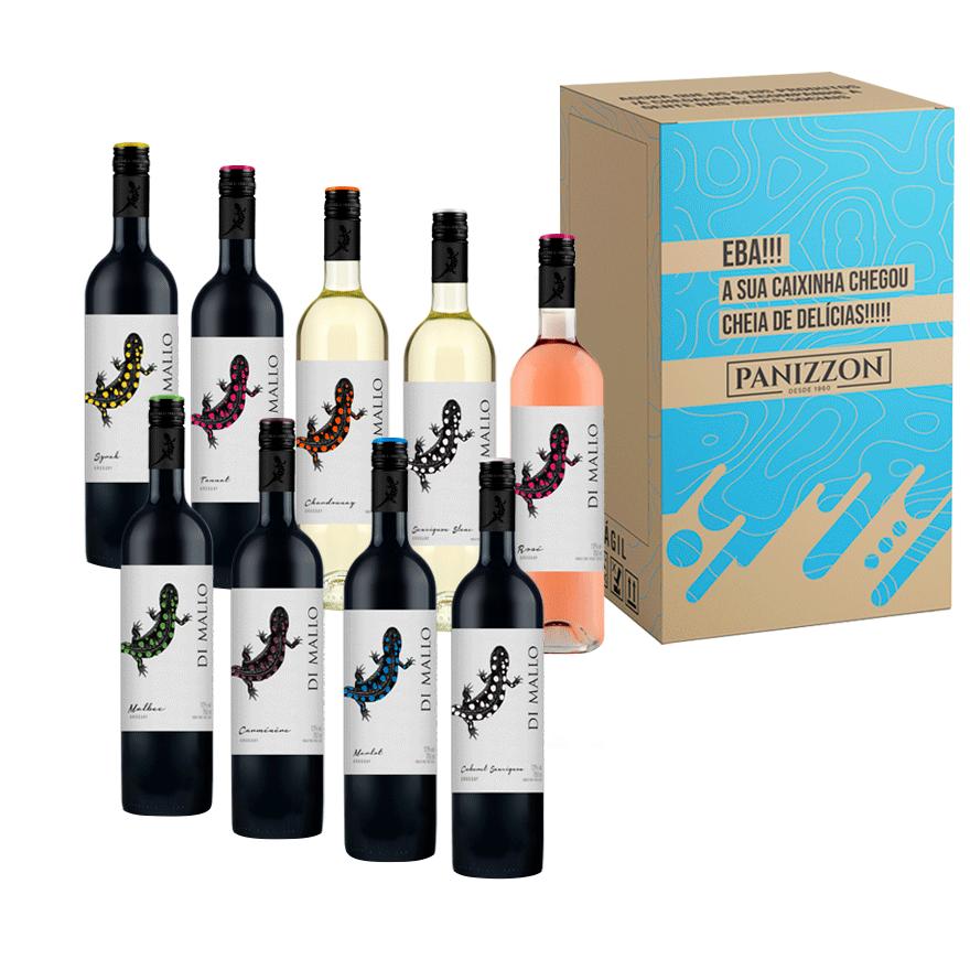 Kit com 9 Vinhos Finos Di Mallo 3% de desconto