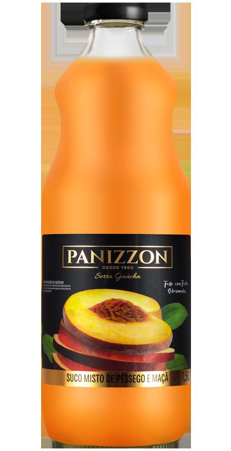 Suco Misto Pêssego e Maçã Panizzon 1,5L