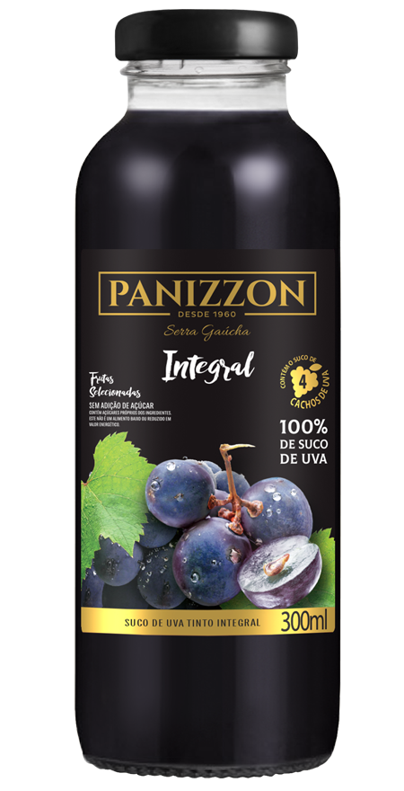 Suco Uva Tinto Integral Panizzon 300ml