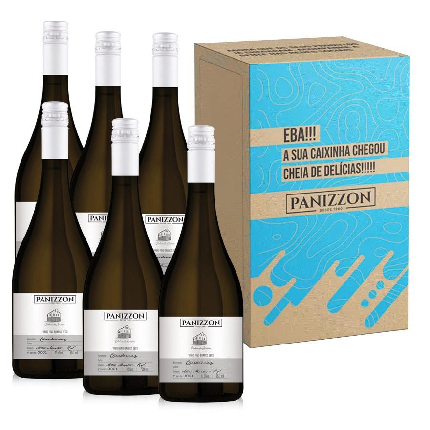 Vinho Branco Fino Chardonnay Panizzon 750ml Caixa com 6 Garrafas 3% de desconto