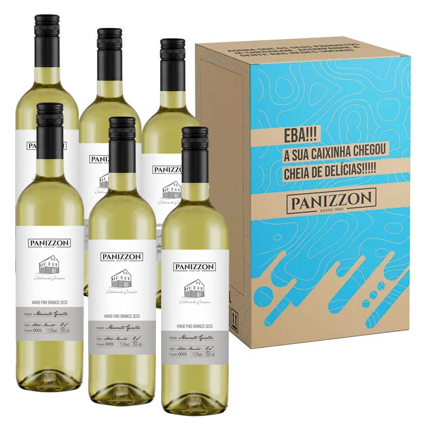 Vinho Branco Fino Moscato Giallo Panizzon 750ml Caixa com 6 Garrafas 3% de desconto