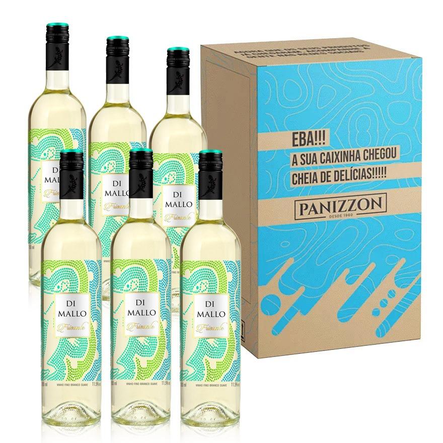 Vinho Branco Frisante Moscato Di Mallo 750ml Caixa com 6 Garrafas 3% de desconto