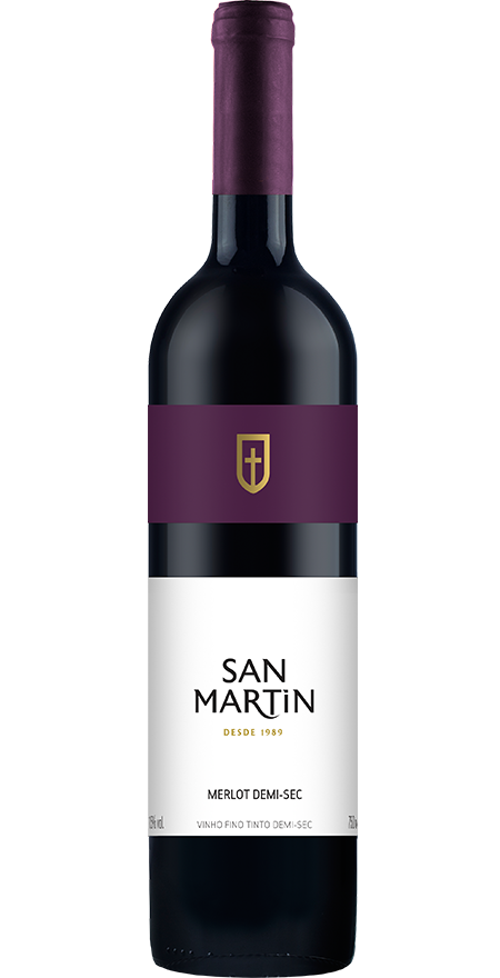 Vinho Tinto Demi-sec Merlot San Martin 750ml