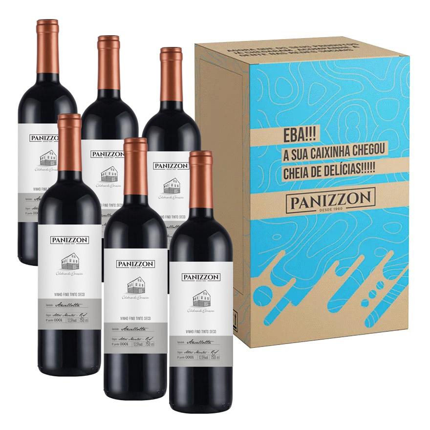 Vinho Tinto Fino Ancellotta Panizzon 750ml Caixa com 6 Garrafas 3% de desconto