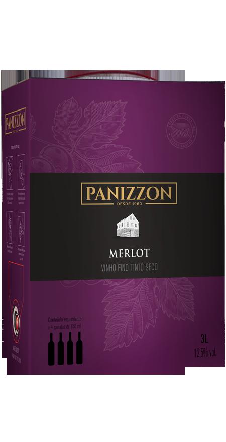 Vinho Tinto Fino Merlot Bag in Box Panizzon 3L
