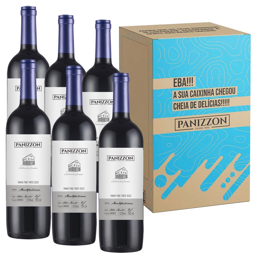 Vinho Tinto Fino Montepulciano Panizzon 750ml Caixa com 6 Garrafas 3% de desconto