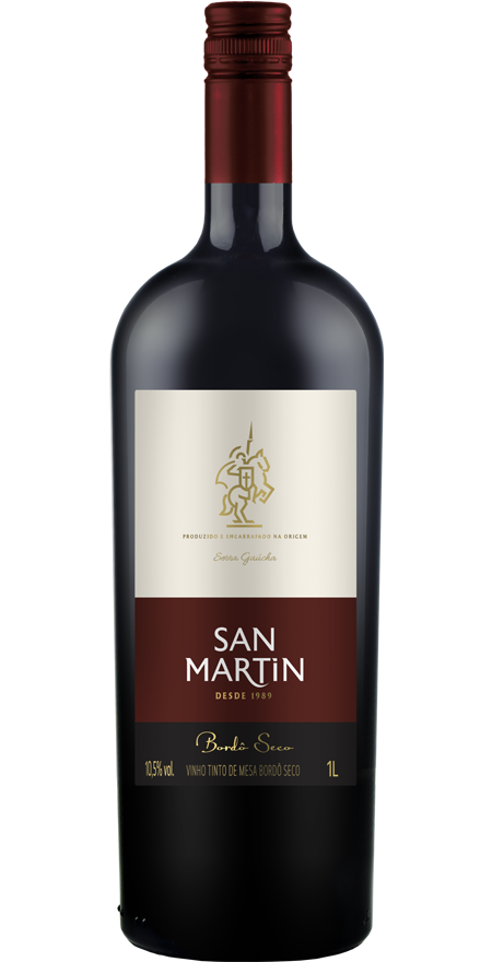 Vinho Tinto Seco Bordô San Martin 1L