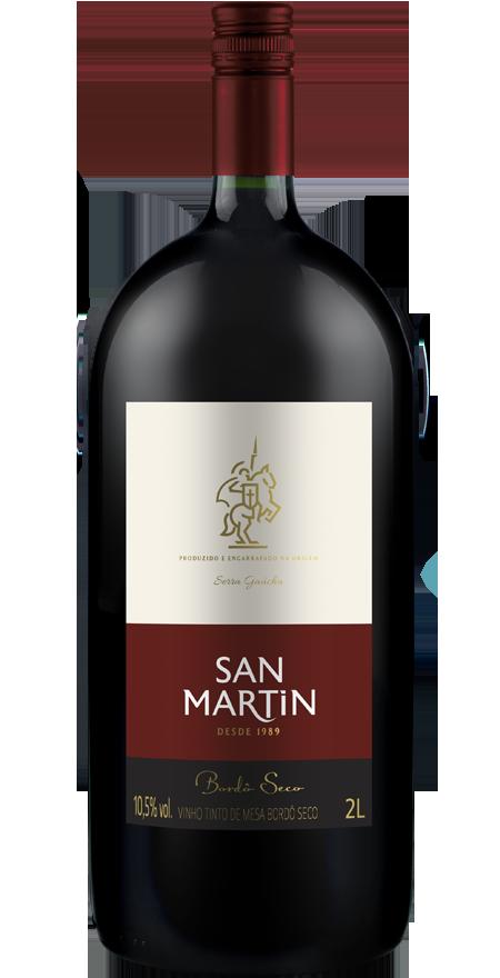 Vinho Tinto Seco Bordô San Martin 2L
