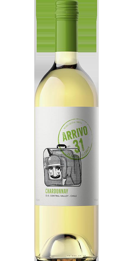 Vinho Branco Seco Chardonnay Arrivo 31 750ml