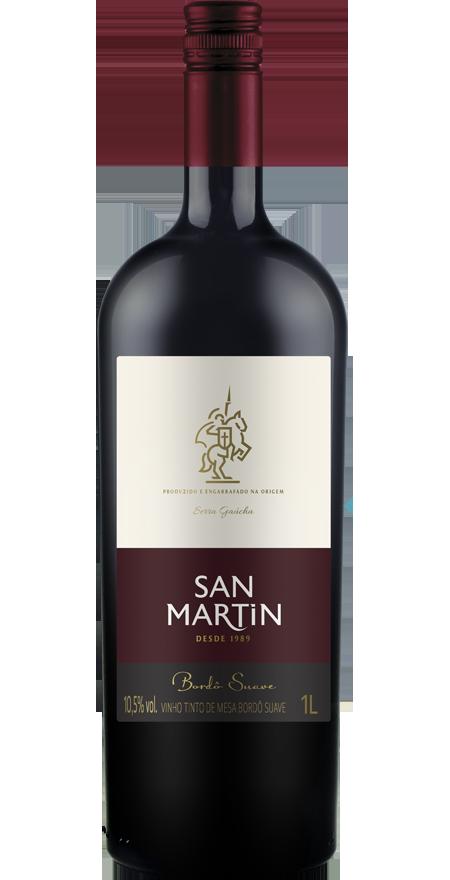 Vinho Tinto Suave Bordô San Martin 1L