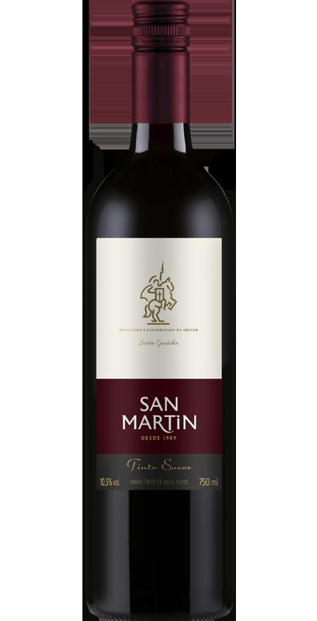Vinho Tinto Suave Bordô San martin 750ml