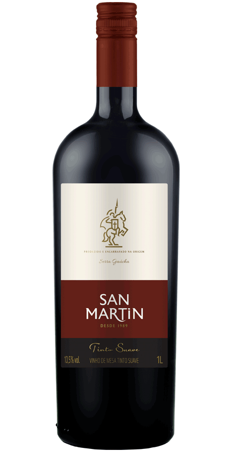 Vinho Tinto Suave de Mesa San Martin 1L