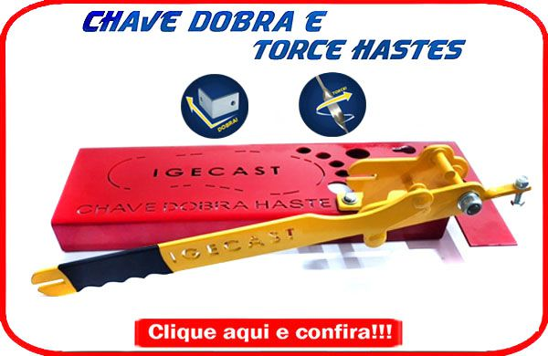 Chave Dobra e Torce Haste -Barra Chata (Strong)