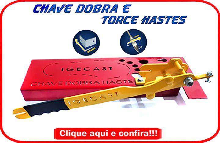 Chave Dobra e Torce Haste -Barra Chata (Strong)