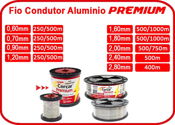 Fio Condutor Alumínio Premium