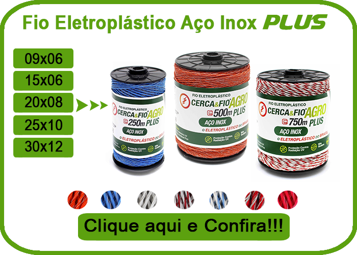 Fio Eletroplástico Aço Inox Plus