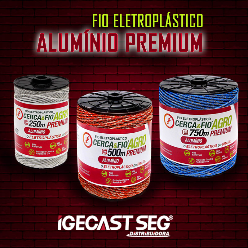 Fio para cerca elétrica Eletroplástico Alumínio Premium