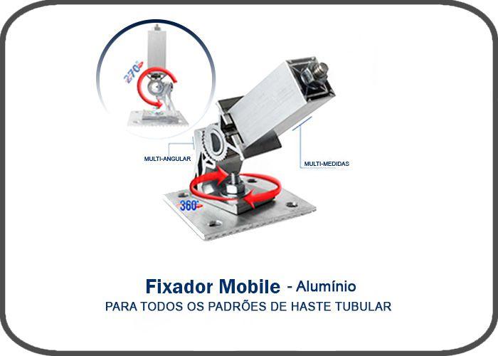 Fixador mobile - AlumÍnio -multi-medidas-p Hastes Prime  70x70x140mm