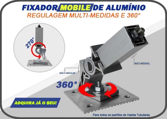 Fixador Mobile - AlumÍnio -multi-medidas- p/ Haste tubular
