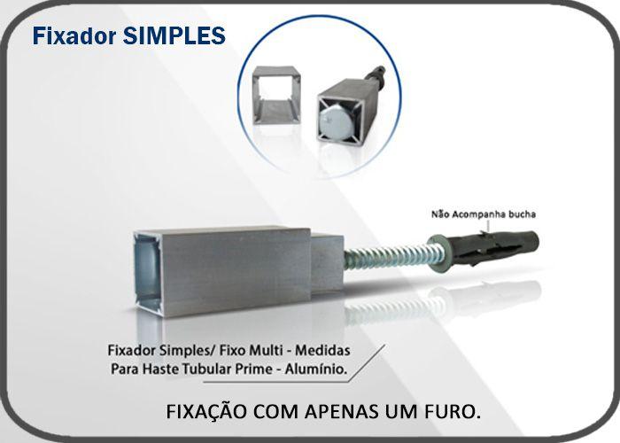 Fixador Simples - Alumínio p/ Haste Tubular