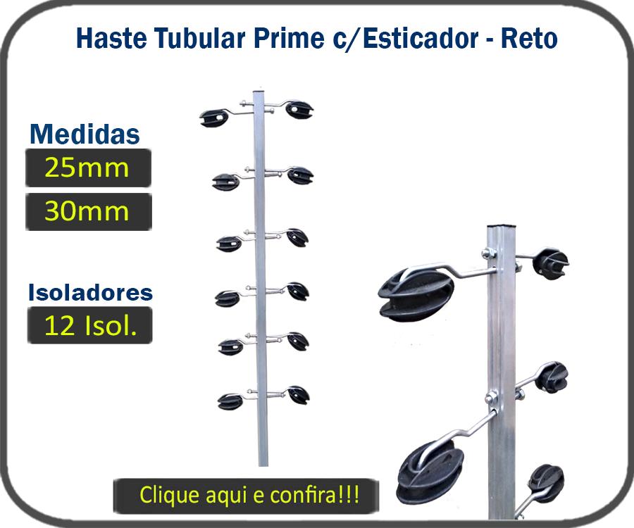 Haste Tubular Prime 25mm e 30mm C/ Esticador, e Isolador Castanha