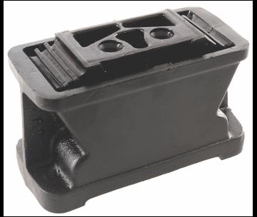 Coxim traseiro da suspensão do motor OM447LA - OM457LA. (lado volante) (coxim reforçado com quatro almas de aço) rosca m 18 x 1,5 e rosca m 14 x 1,5.