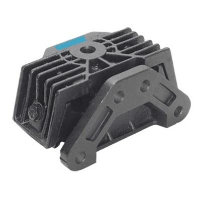 Coxim traseiro da suspensão do motor OM904LA - OM906LA - OM924LA (lado volante) (tarja azul) rosca m 18 x 1,5 e rosca m 16 x 1,5, com 4 furos de fixação no chassi.