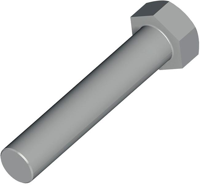 Parafuso sextavado aço m30x2x190