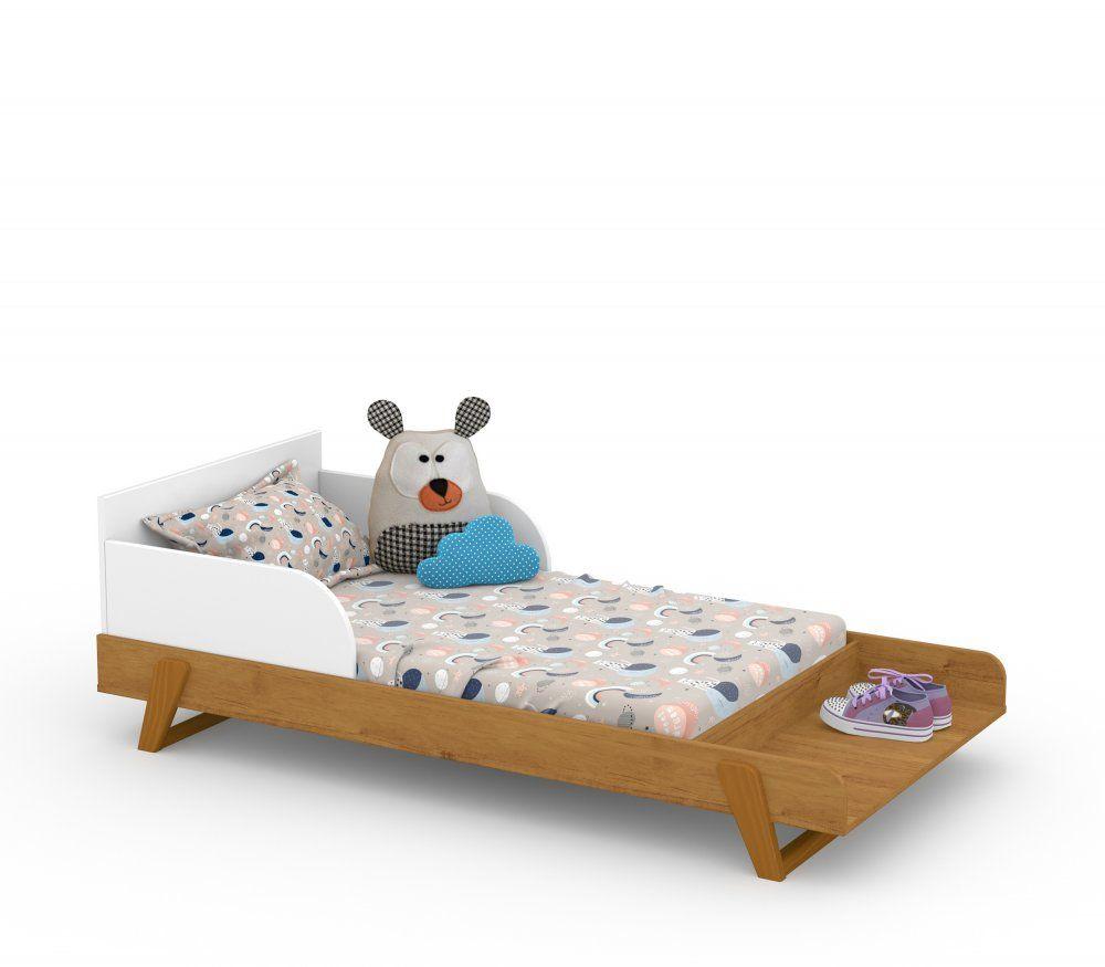 Berço Multifuncional Maxx Matic Branco Soft / Feijo /Ecoo Wood