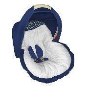 Capa Bebê Conforto Branca com Ana Marinho