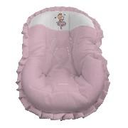 Capa Bebê Conforto Rosa Menina Acolchoado Bailarina Coração