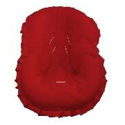 Capa Bebe Conforto Vermelha Com Babados