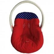Capa Para Bebê Conforto Acolchoado Vermelho Ancora Marinho
