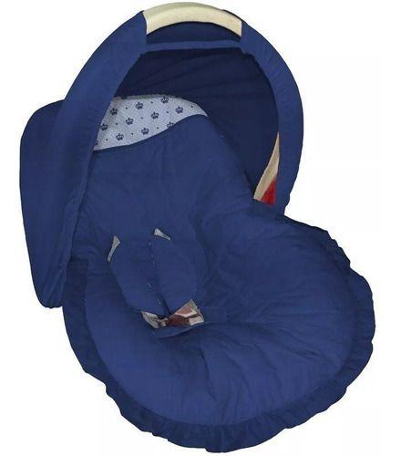 Capa Bebê Conforto Marinho com Coroa
