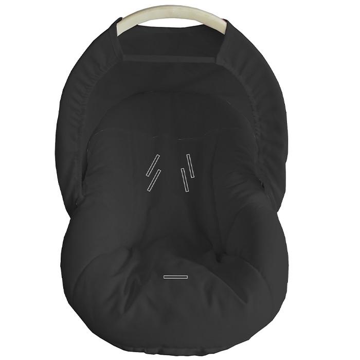Capa Para Bebê Conforto Com Capota Preto