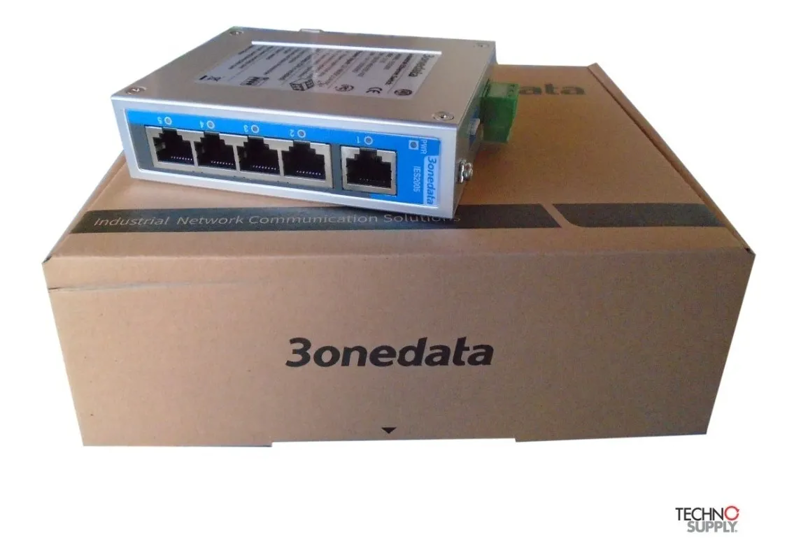 Switch Ethernet Industrial 10/100 3onedata IES2005-5t-P48 05 Portas