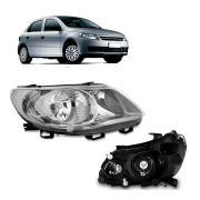 Farol Direito Volkswagen Gol Voyage G5 2009 a 2012 Saveiro G5 2009 a 2013 Foco Duplo