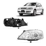 Farol Esquerdo Astra Hatch Sedan 2003 a 2012 Máscara Cromada Orgus