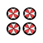 Jogo de Emblemas Resinados 48mm Umbrella - Para Calotas Rodas