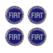 Jogo de Emblemas Resinados 51mm Fiat Para Calotas Rodas